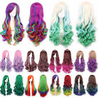 Fashion Lolita Wigs Long Curly Wavy Hair Full Cosplay Party Ladies Wig Colorful