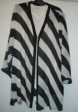 FURTHER Reduced price Kirsten Krog Design Black and White Jacket Size 18/20