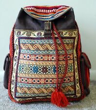 Persian Handmade Handwoven Handcrafted Kilim Gelim Rucksack Backpack Bag