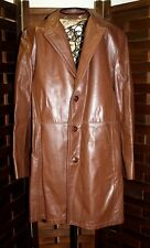 Vtg Lakeland Brown Leather Jacket Coat Size 40 Mod Hip Western Fight Club Men