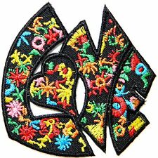 LOVE PEACE Boho Hippie Rasta Iron on Patch Bag T shirt Applique Sign Emblem Logo