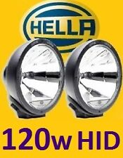 1pr Hella Rallye 4000 spot driving lights with waterproof 120W HID kit prefitted