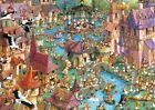 NEW! Heye Bunnytown by Francois Ruyer 1000 piece comic cartoon jigsaw puzzle