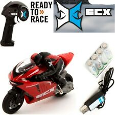 ECX 01004T2 1/14 Scale Outburst Motorcycle RTR w/ Radio & Battery + Charger RED