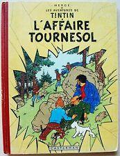 Tintin L'Affaire Tournesol HERGE éd Casterman B19 1956 EO française