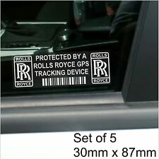5 x Rolls Royce GPS Tracking Device Security Stickers-Phantom,Car Alarm Tracker