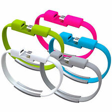 COMBO OF 2 Micro Wrist Bracelet USB Band For Android Smartphones