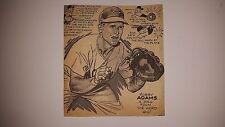 Bobby Adams Reds 1955 Cartoon Sketch VERY RARE!