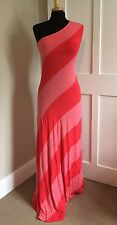 Ted Baker Off The Shoulder Maxi Dress Ted Size 1 UK XS/8 Pink & Red NWOT