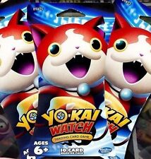 3 Yokai Watch Trading Card Game Blister / Booster Packs 10 card ea. NEW