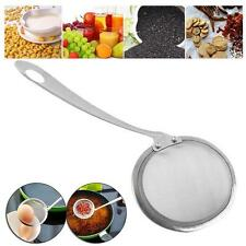 Stainless Steel Soup Ladle Spoon Skimmer Strainer Mesh Filter Kitchen Cooking