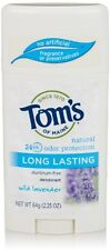 2 Pack Tom's of Maine Natural Long-Lasting Deodorant Stick Lavender 2.25 oz Each