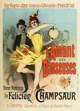 A4 photo CHERET, Jules les affiches illustrees 1896, LAMANT des danseuses imprimer
