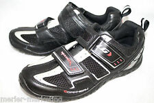LG GARNEAU MultiRX Men's 5.5 Eu 38 Black Velcro Cycling Shoe & Clip