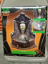 Lemax 2002 Spooky Town Halloween Haunted Skull Fountain ~ Retired ~ Rare