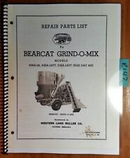 Western Land Roller Bearcat Grind-O-Mix 63SA-2A 63SA-2ATT 63SA-2ATT Parts Manual