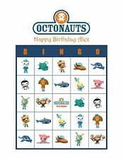Octonauts Personalized Birthday Party Game Activity Bingo Cards
