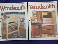 2 WOODSMITH VOL 22 #129 & VOL21 # 125 WOODWORK PATTERN BOOKS TABLES&MORE