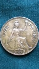 George VI 1945 One Penny Bronze Penny Key Date