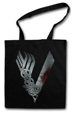 VIKINGS LOGO CELTIC Hipster Shopping Cotton Bag - TV Series Yggdrasil Thor Odin