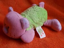 """Popit popit Green and pink laying down bear comforter soft toy 6"""""""