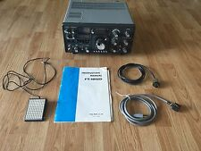 Yaesu FT-101ZD HF Ham Radio Transceiver With Cables Foot Pedal Manual