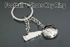 FOOTBALL SHOES SOCCER Key Chain metallic keychain car bike, key ring keyring