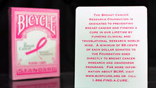 Bicycle Breast Cancer Pink Playing Cards