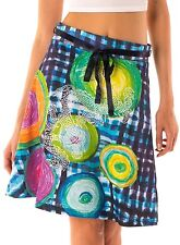 Beautiful Desigual Celi Aline Multicoloured 100% Cotton Casual Skirt Size L
