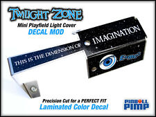 Bally Twilight Zone Pinball - STARFIELD Mini Playfield Light Cover DECAL MOD!