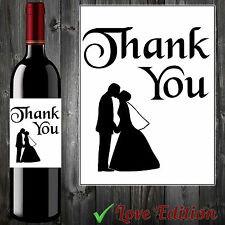 THANK YOU FOR WINE LABEL WEDDING ENGAGEMENT GIFTS GUESTS PERFECT  #aa29!