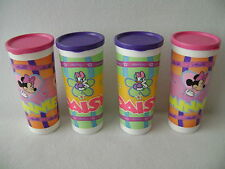 Tupperware Minnie Mouse Daisy Duck 16 oz Cups Tumblers Set of 4 with Lids