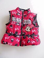 Disney Minnie Mouse Winter Puffer Vest Size 18 Months Glittery Letters