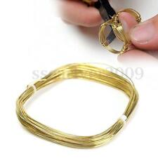 10mx1mm Half-Hard Brass Circular Wire For DIY Craft Beading Jewelry Making Gold