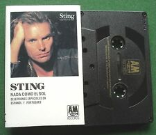 Sting Nada Como el Sol Selections in Spanish & Portuguese Cassette Tape - TESTED