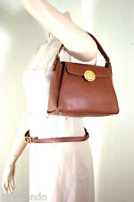 Vintage Valentino Garavani Brown Leather Tote Hand Shoulder Bag Italy