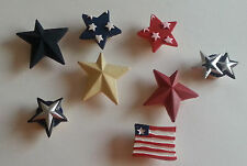 Lot 8 Red White Blue Button Covers Scrapbook Page Candy 4th of July USA Flag