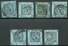 GERMANY STATES BADEN SCOTT# 8 MICHEL# 8 USED LOT OF 7 AS SHOWN