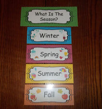 What is the Season Daycare Learning Center Laminated Bulletin Board Accessory.
