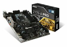 MSI Pro Solution Intel Z170A PRO LGA 1151 DDR4 USB 3.1 ATX 6th Gen Motherboard