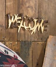 Wildlife Antler Northwood Woodland Cabin Lodge Welcome Plaque Accent Wall Decor