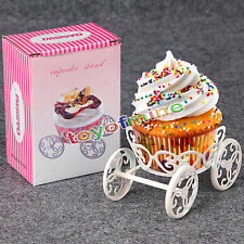 New Pastry Metal Wheel Cupcake Dessert Stand Holder Cake Display Wedding Party