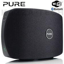 Pure jongo T2 Negro Portátil Inalámbrico Wifi Bluetooth Multiroom Audio Mp3 Altavoz