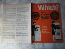 February 1966, WHICH?, Double Knitting Yarns, Gas cookers, Electric cookers.