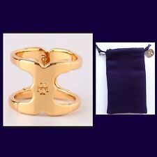 AUTHENTIC NEW TORY BURCH GEMINI LINK RING~Size 7~W/TB JEWERY BAG-RV $95-NWOT