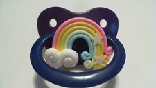 1 ADULT PACIFIER WITH PRETTY RAINBOW  FOR YOUR LITTLE ONE
