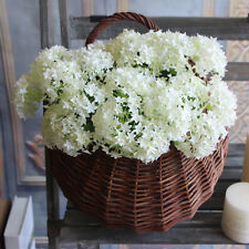 2X White Silk Flower Rose Artificial Hydrangea Wedding Bridal Petal Hexagon