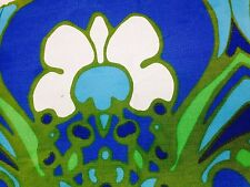 """rare Peter Max tablecloth 52 x 70"""", psychedelic Timely Linens blue green 60s"""