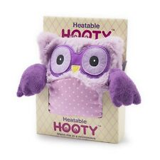 "Warmies Intelex 10"" Purple Hooty Owl Microwavable Heatable Cozy Lavender Scented"