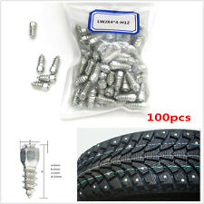 100pcs 12mm Screw Spikes Trim Car/Truck/ATV Wheel Tyres Snow Chains Spikes Studs